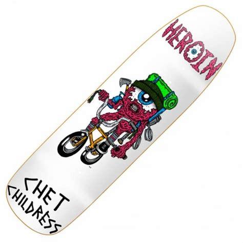 Handmade Skateboard Decks - heroin skateboards heroin chet childress eyeball custom