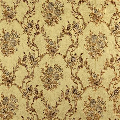 large floral upholstery fabric gold brown and ivory large scale floral brocade