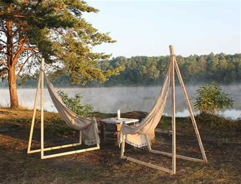 backyard hammock stand hammock chair by yurii cegla brings simplicity into