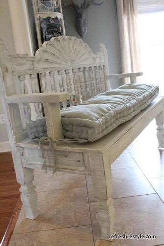 benches headboards and end tables on pinterest