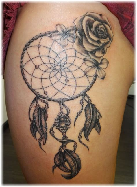 dreamcatcher with roses tattoo collection of 25 catcher design