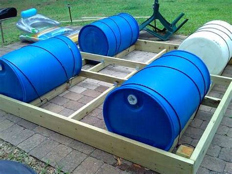 how to build a boat dock with plastic barrels building a floating dock with barrels wantster