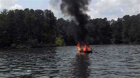 fire boat connection wood boat exploded burned lake lanier youtube