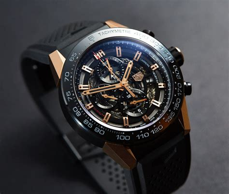 Tagheuer Cal 17 Rosegold Black tag heuer grand calibre 36 gold price in