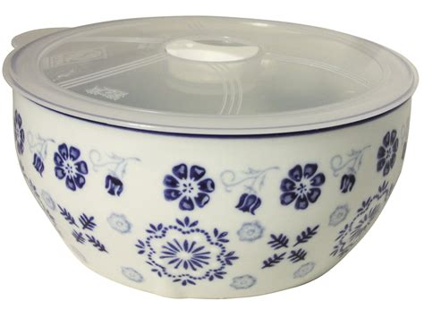 Kitchen Canisters Blue early spring plum blossoms blue and white ceramic bowl