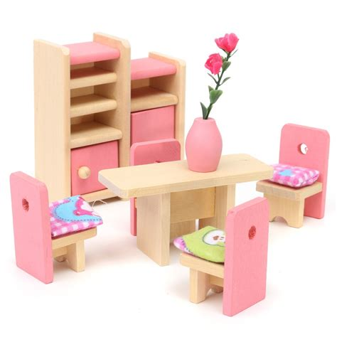 wooden dolls house furniture set online get cheap miniature dollhouse furniture aliexpress com alibaba group