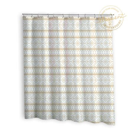 gold fabric shower curtain gold fabric shower curtain tribal print gold shower