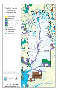 peace river watershed distribution of conservation lands