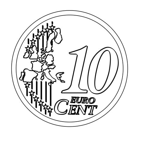 euro coloring page 10 cents clipart clipart suggest