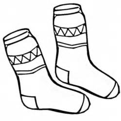 Print Socks Winter Clothes Coloring Page Or Download sketch template