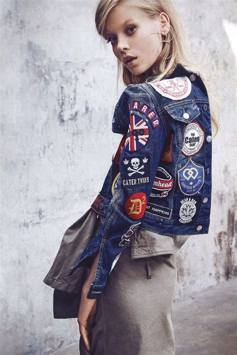 I Dig It Dsquared2 by The Dsquared2 Patch Jacket In Grazia