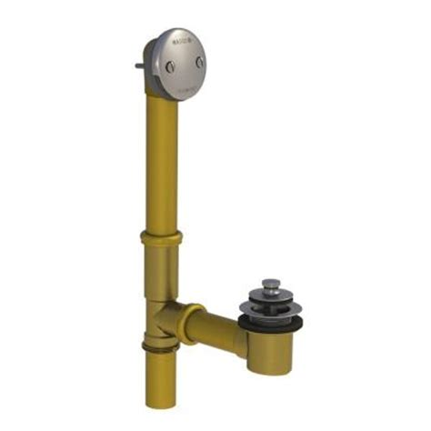 lift and turn bathtub stopper watco 501 series 16 in tubular brass bath waste with lift and turn bathtub stopper