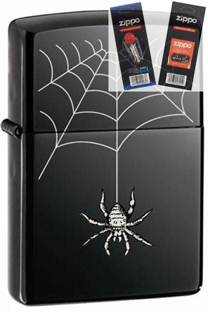 Zippo Web And Spider zippo 150 spider web lighter with flint and wick gift set