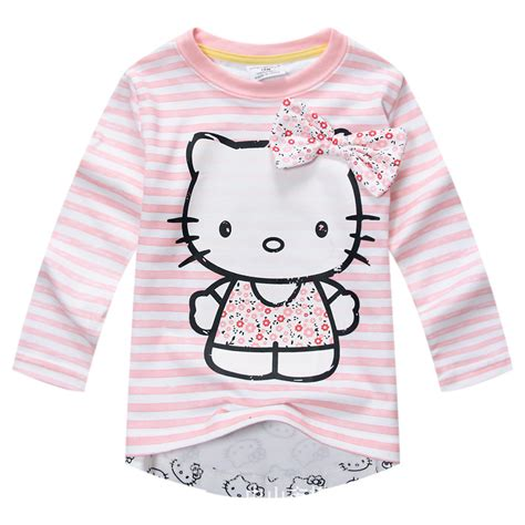 Hello Baby Shirt 2 new 2017 baby t shirt hello sleeve tshirt autumn pink t shirt in