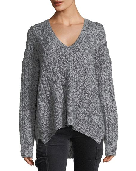 oversized cable knit sweater vince oversized cable knit v neck sweater
