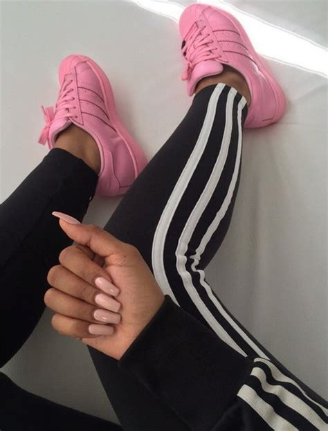 shoes pink all pink everything adidas shoes adidas girly instagram