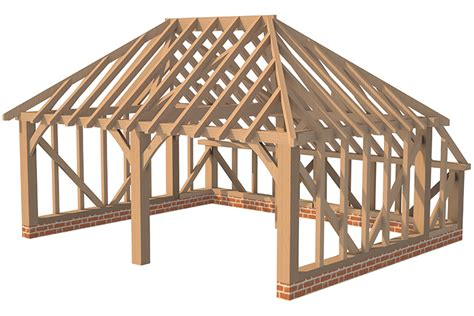 Timber Frame Hip Roof Catslide Roof Image From Historichomes