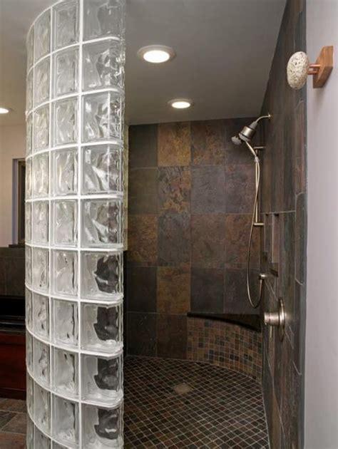 custom glass block shower designs add beautiful curves