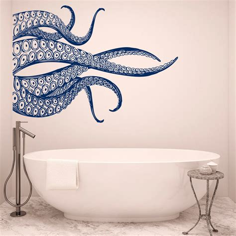 octopus bathtub octopus tentacles wall decals for bathroom sea animals