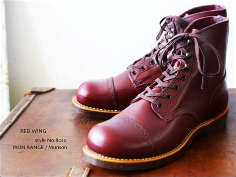 Sepatu Sneakers Leather Suite 25021 wing no 8012 iron range munson shoes wings and ranges