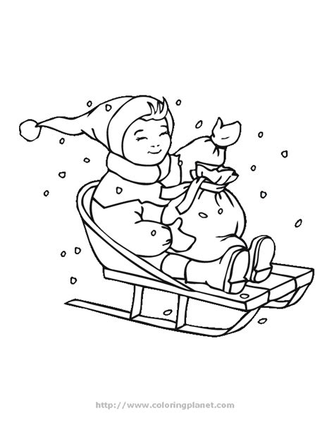 Free Sled Coloring Pages Sled Coloring Pages