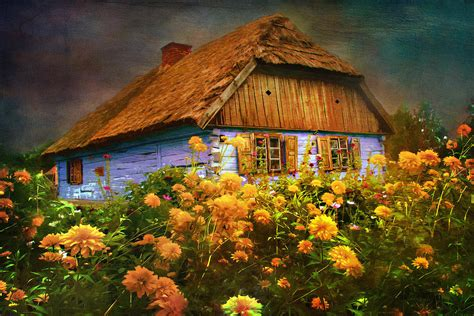 Painting Of House by Old House Painting By Andrzej Szczerski