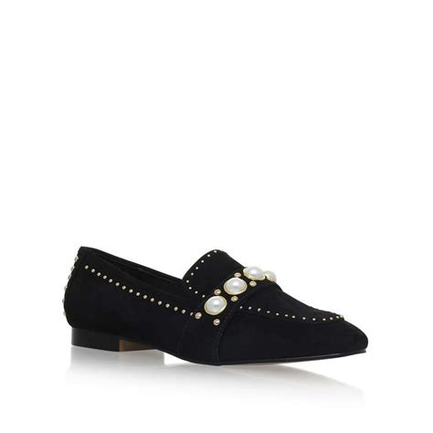 kurt geiger flat shoes leighton black flat loafer shoes by carvela kurt geiger