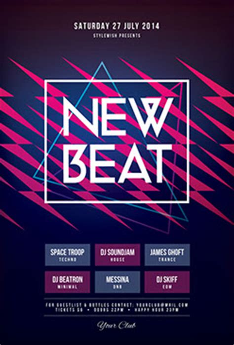beat template 500 kickass psd flyer templates for photoshop