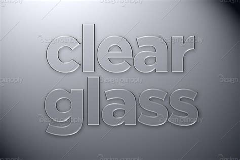 Clear Glass Photoshop Style   Design Panoply