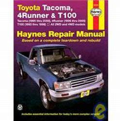 small engine repair training 2004 toyota tacoma free book repair manuals 1993 2004 toyota tacoma 96 02 4runner 93 98 t100 haynes repair manual