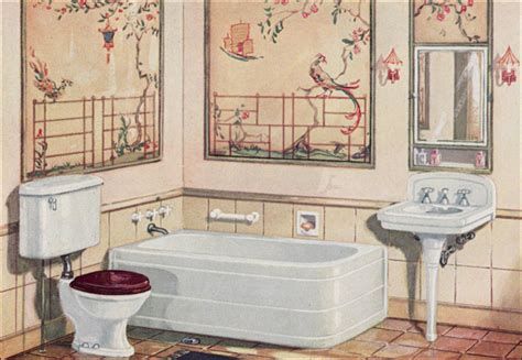 1926 crane plumbing fixtures 1920s bathroom asian theme