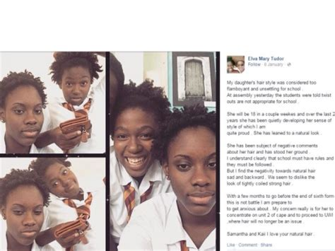 Twist Out Hairstyle At Harrison College | barbadian high school bans twist outs sparks backlash