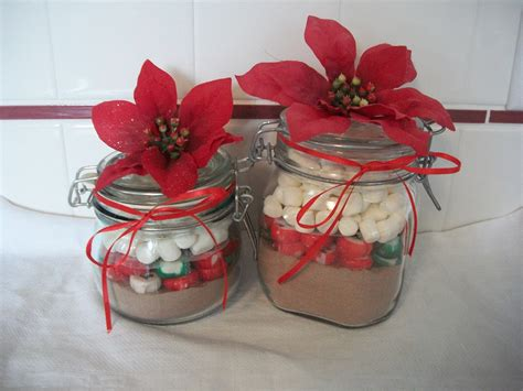quick christmas gift craft hot cocoa jars