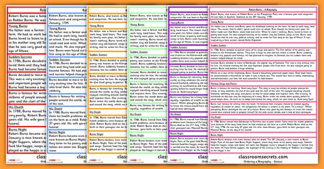 biography exle text ks2 ks2 ordering a biography model text classroom secrets