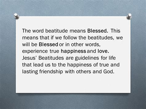 kingdom of happiness living the beatitudes in everyday books matthew 5 1 12 the beatitudes ppt
