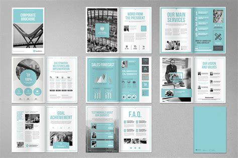 Corporate Brochure Template For Adobe Indesign Indesign Layout Templates