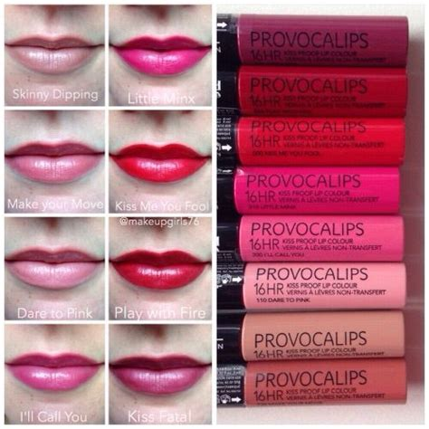Rimmel Provocalips 17 best images about rimmel provocalips on lip