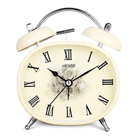 Alarm Clock Rome hense retro vintage bell alarm clock mute silent quartz movement numerals analog