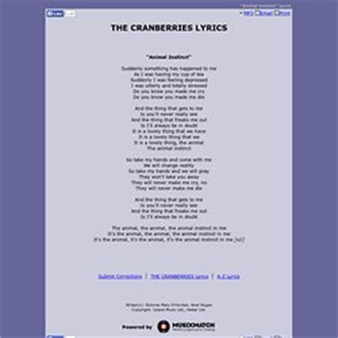 cranberries testo lyrics thomas29h2000 pearltrees