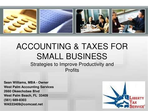 Small Business Owner Mba by Accounting Taxes For Small Business Presentation