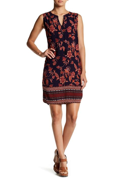 Beachlunchlounge Dress Xl by Lunch Lounge Split Neck Shift Dress In Lyst
