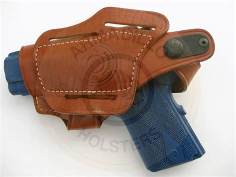 armadillo holsters leather belt holster w clip for 1911