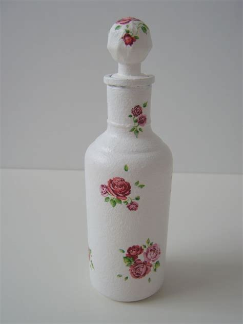 Decoupage On Plastic Containers - glass small bottle decoupage craft crafts bottle and