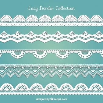 Four Flowers Decoarted Lace Design Collar White lace vectors photos and psd files free