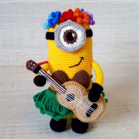 pattern crochet minion hawaiian minion crochet pattern amigurumi today