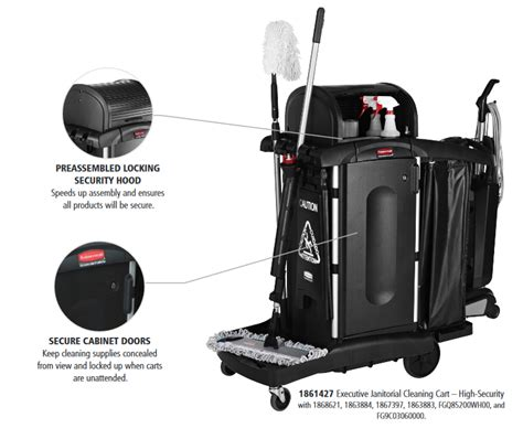 Rubbermaid Executive Janitorial Cleaning Cart 1861427