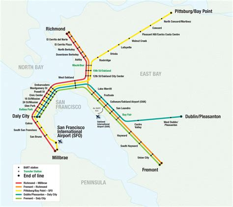 sf bart map bart station map san francisco michigan map