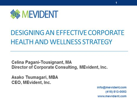 Mba Strategy And Health Administration by Designing An Effective Corporate Health And Wellness Strategy