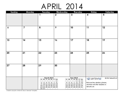 printable calendar template november 2014 april 2014 calendar printable printable calendar 2014