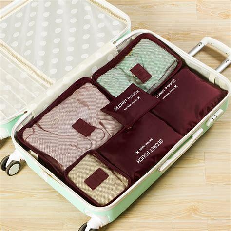 Travelling Bag Organizer 1 Set Isi 6 Pcs Ukuran Lebih Besar Hhm443 6 pcs set waterproof clothes storage bags packing cube travel luggage organizers ebay